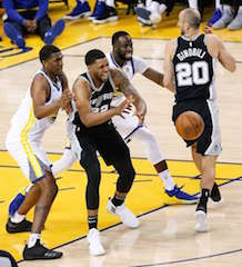 The April 22 National Basketball Association playoffs match of the Golden State Warriors versus the San Antonio Spurs was the first presentation streamed via EclairLive.