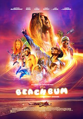 Distributor Neon has released The Beach Bum in Éclair Color high dynamic range at select Alamo Drafthouse Cinema locations across the United States.