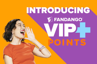 Fandango today launched its new rewards program, VIP+.