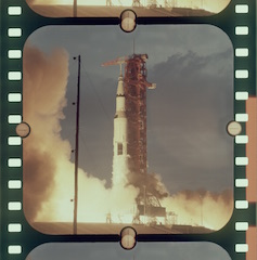 Kodak developed the special Ektachrome reversal stock for NASA, with an extremely high dynamic range.