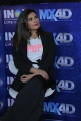 """Technology innovations are always so exciting,"" said acclaimed Bollywood actress Richa Chahra. ""What's special about MX4D is that it is seamlessly immersive and pulls you right into the movie plot."