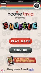Shuffle is a collection of card-based movie-trivia mini-games where players must answer questions as quickly as possible to earn points before time runs out.