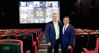 Kirk Edwards CEO VIllage Cinemas, left, and Byung-Hwan Choi CEO CJ  4DPlex.