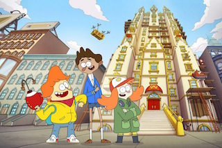 The animated series Welcome to the Wayne recently debuted on Nickelodeon, becoming the network's first original series to move from digital to broadcast.