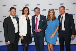 Arii executive board member Franz Krause, center, with guests at the company's centenary celebration.