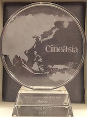 Barco was named CineAsia 2017 Technology Innovator of the Year earlier this week in Hong Kong.