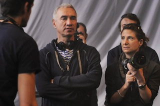 Roland Emmerich and Anna Foerster