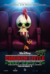 Disney's Chicken Little was Hollywood's first digital 3D release.
