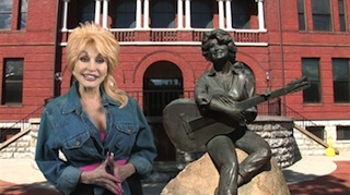 Dolly Parton in a Cinemarr Studios spot for Sevierville, Tennessee will run in Regal Theatres.