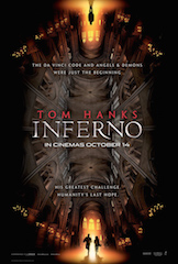 Ron Howard's Inferno, from Sony Pictures, is one of five new films being released in Dolby Cinema.