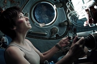 Sandra Bullock begins her attempt to return to Earth.