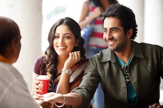 Audiences in India experience well made lower budget films such as Vicky Donor in the language of their choice. Photo courtesy of Eros International.