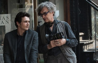 Wenders on location with star James Franco.
