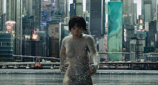 Ghost in the Shell stars Scarlett Johannson.