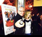 Randall Dark and Kristen Cox at the premiere of their movie Angels Sing.