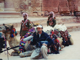 Harber on location in Egypt.